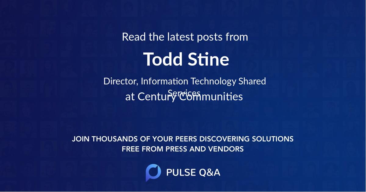 Todd Stine