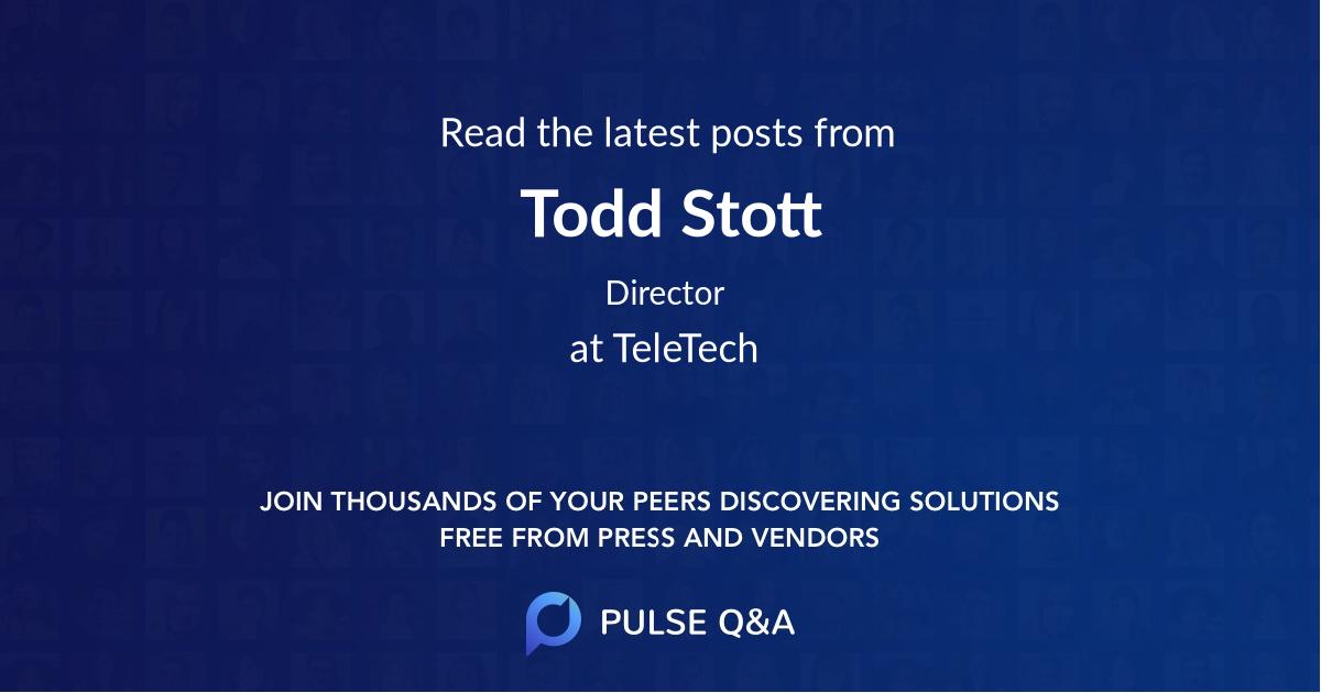 Todd Stott