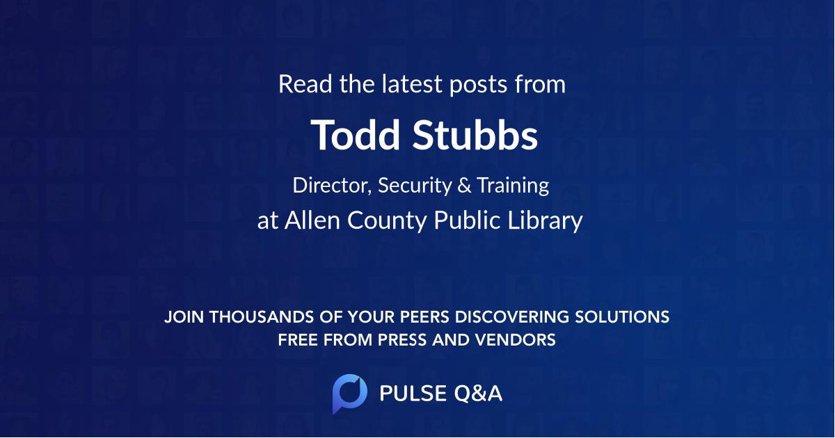 Todd Stubbs