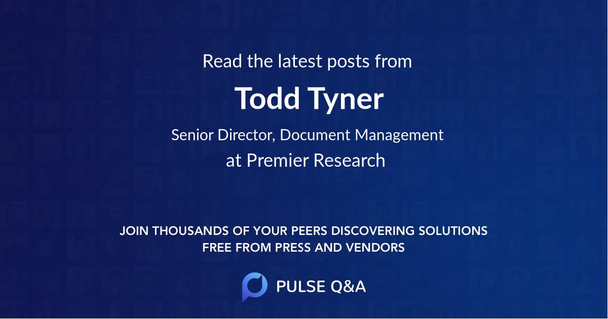 Todd Tyner