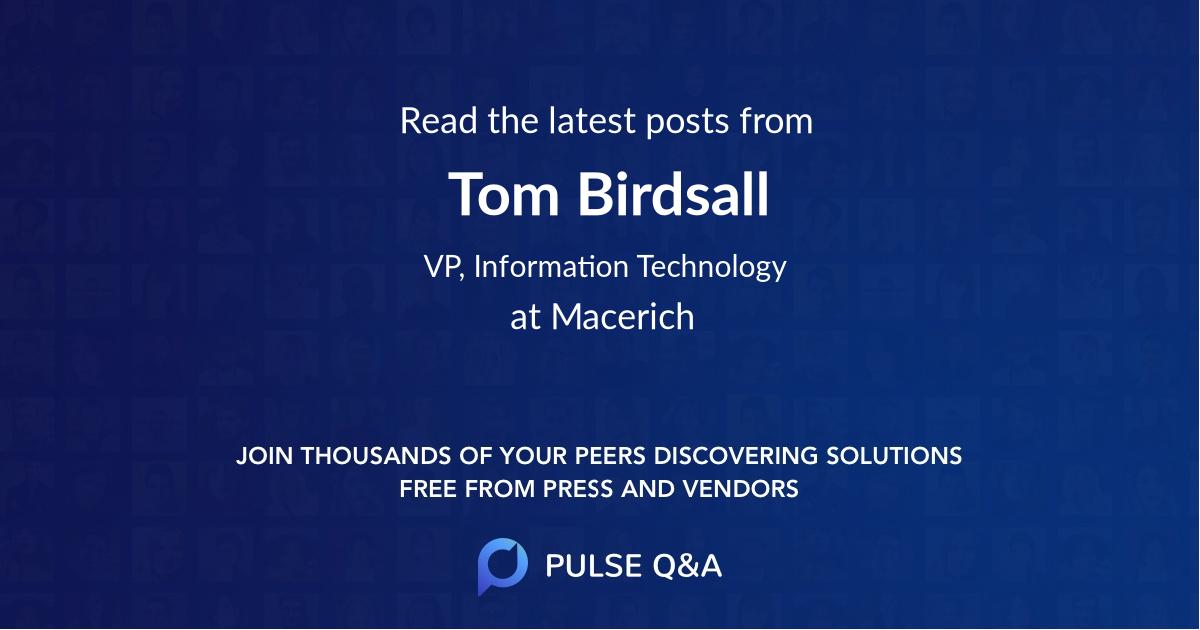 Tom Birdsall