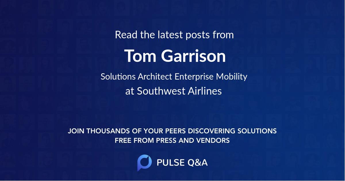 Tom Garrison