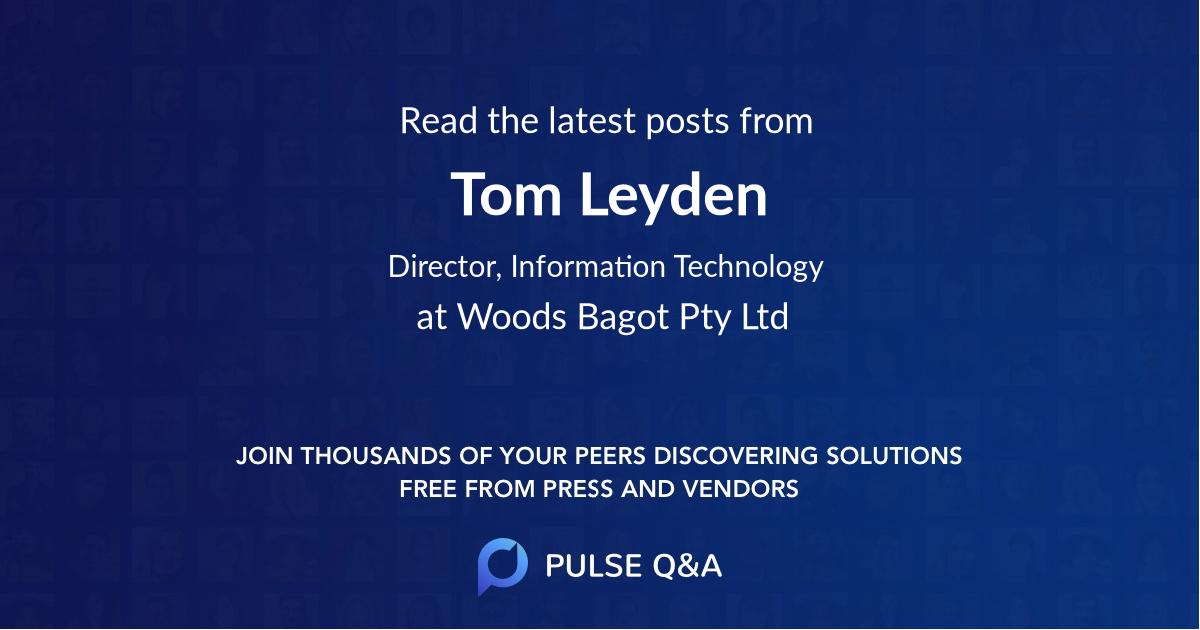 Tom Leyden