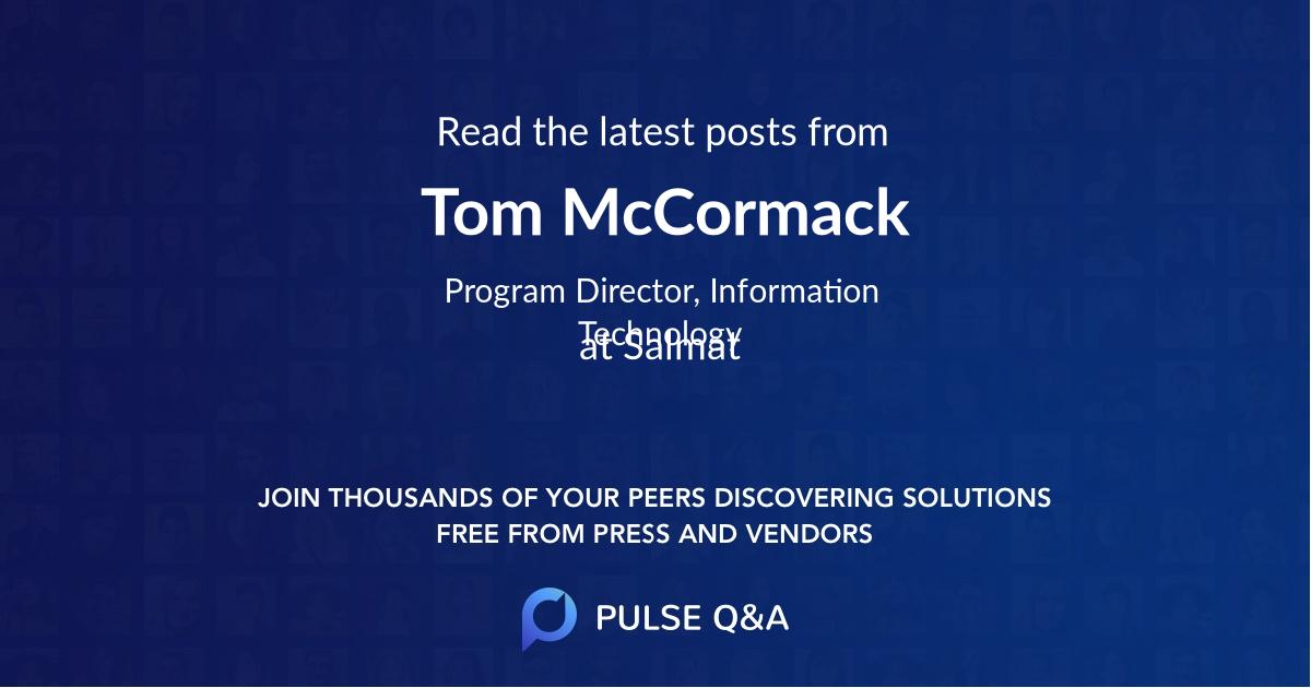 Tom McCormack