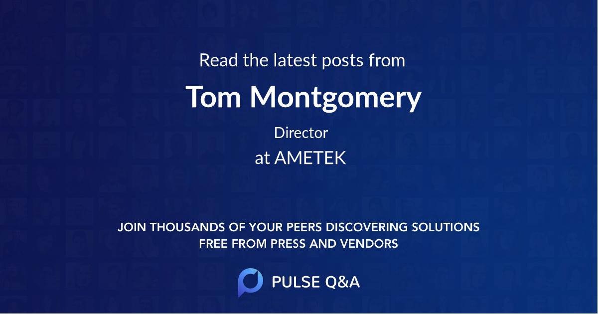Tom Montgomery