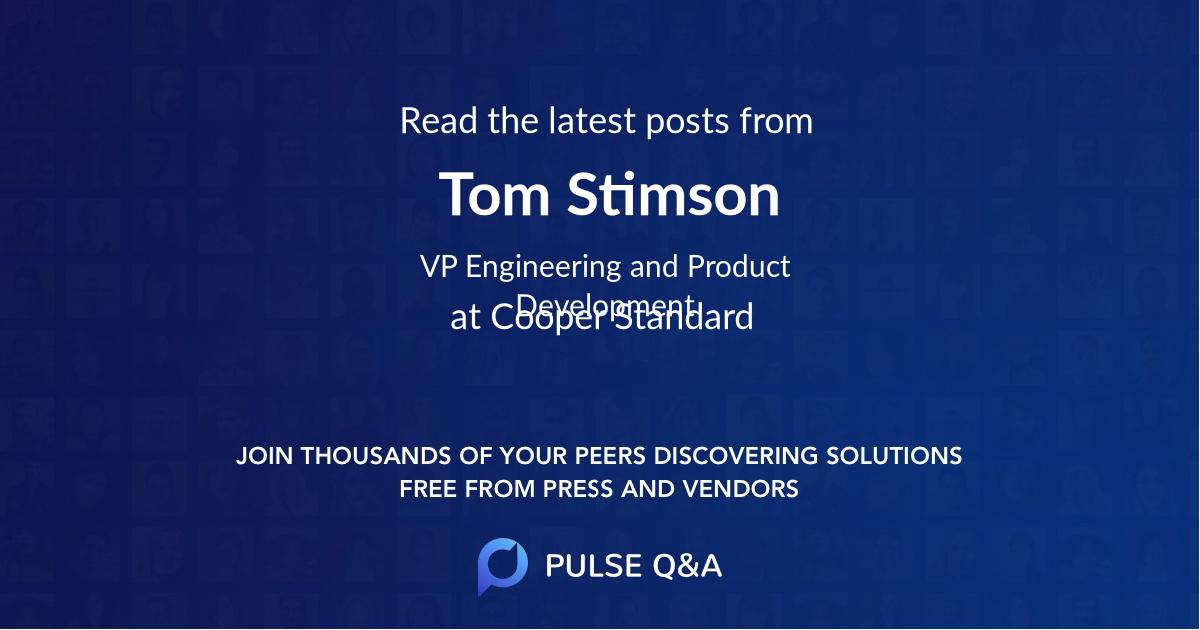 Tom Stimson