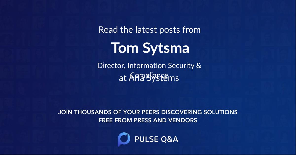 Tom Sytsma