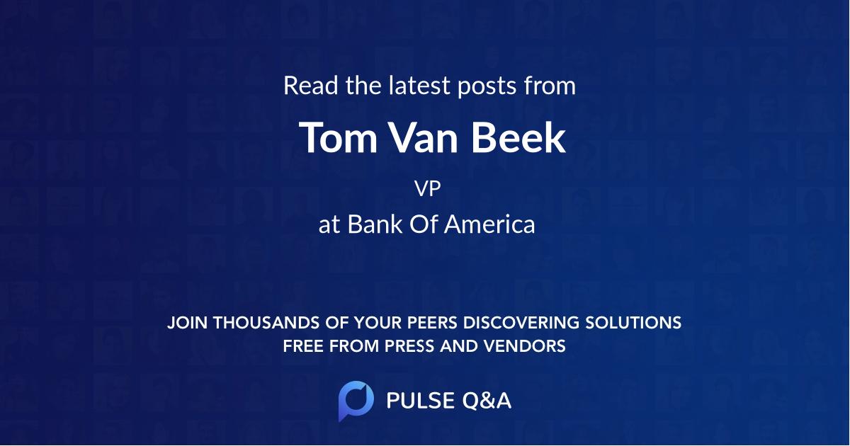 Tom Van Beek