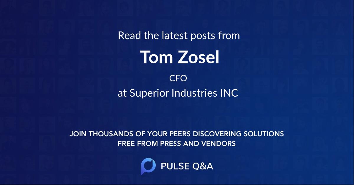 Tom Zosel