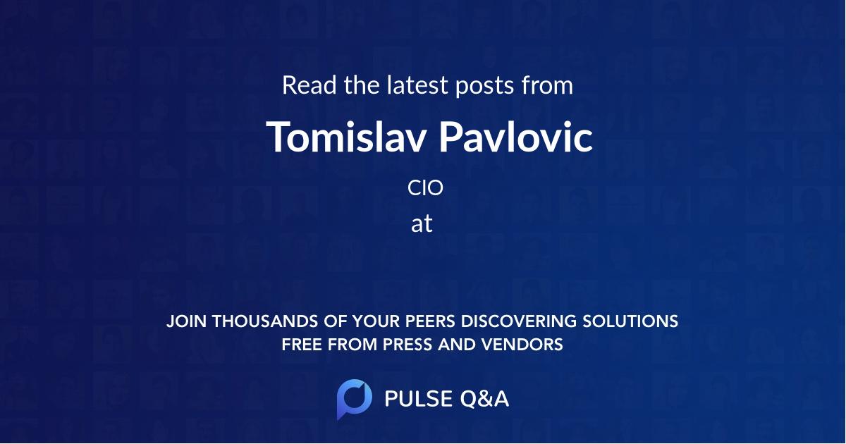 Tomislav Pavlovic