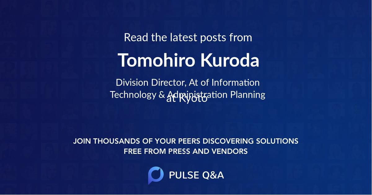 Tomohiro Kuroda