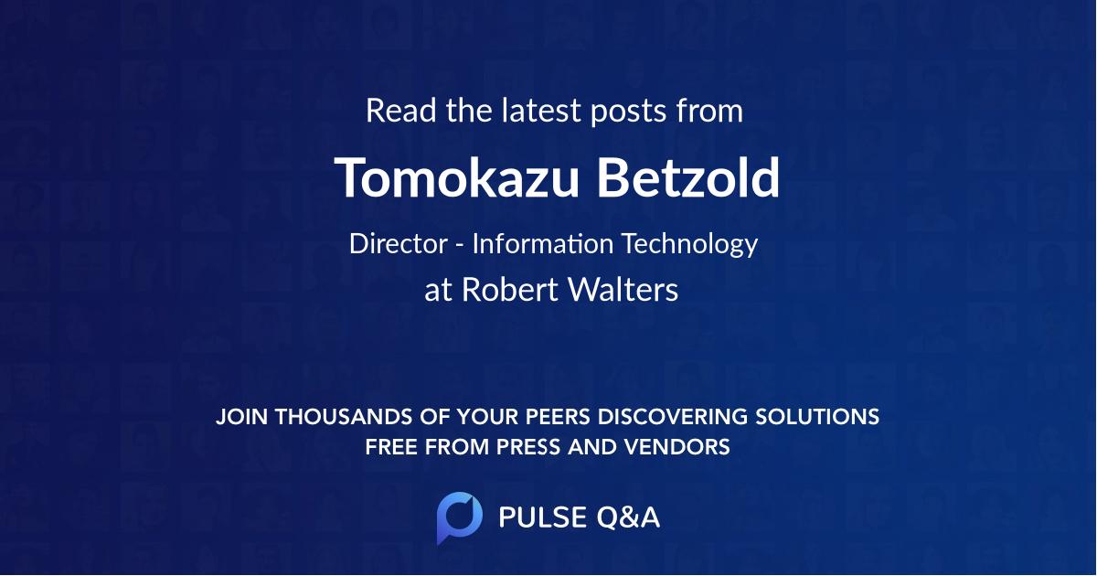 Tomokazu Betzold