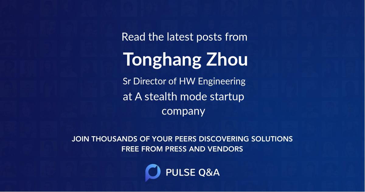 Tonghang Zhou