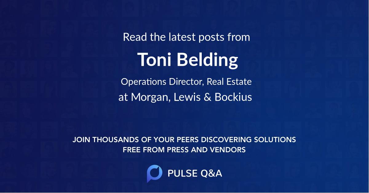 Toni Belding