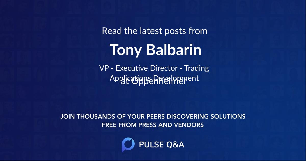 Tony Balbarin