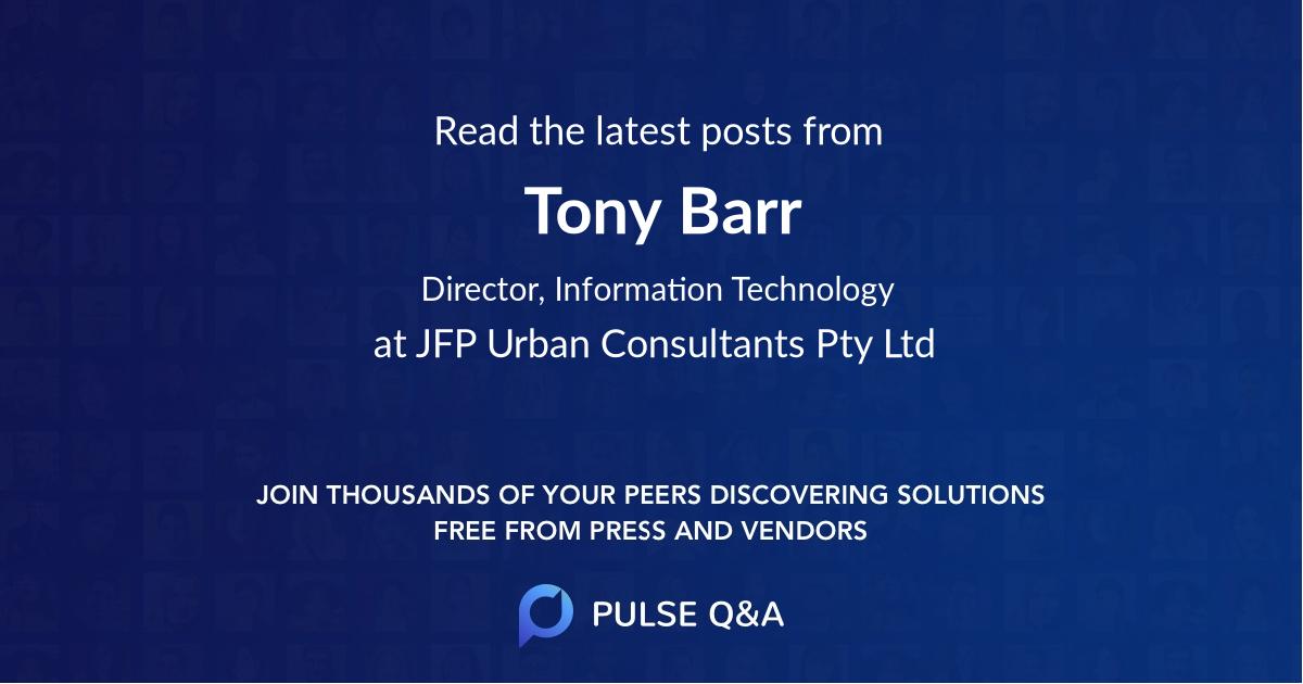 Tony Barr
