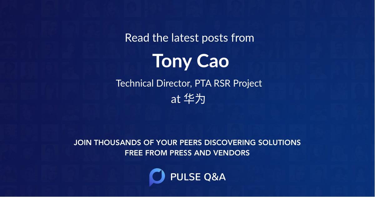 Tony Cao