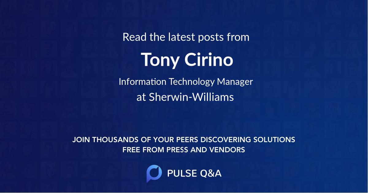 Tony Cirino