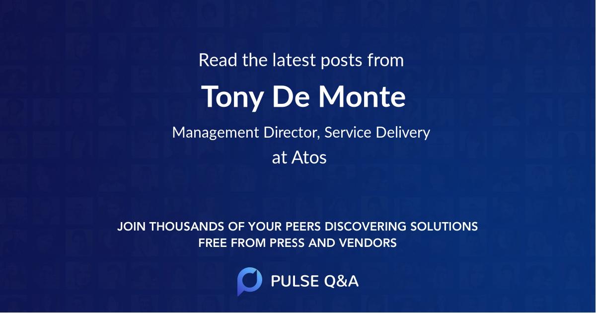 Tony De Monte