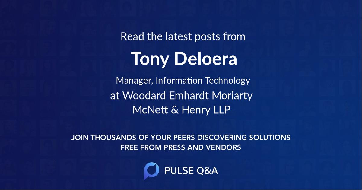 Tony Deloera