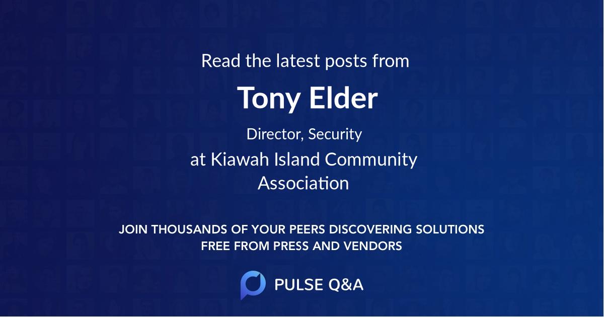 Tony Elder