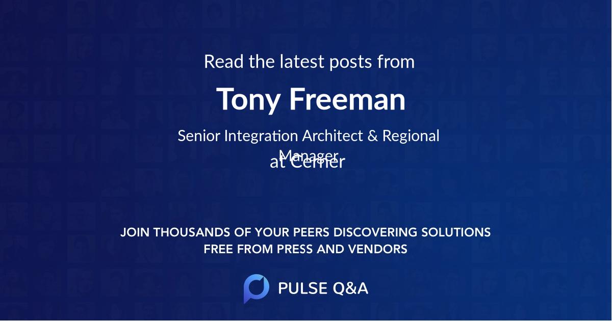 Tony Freeman
