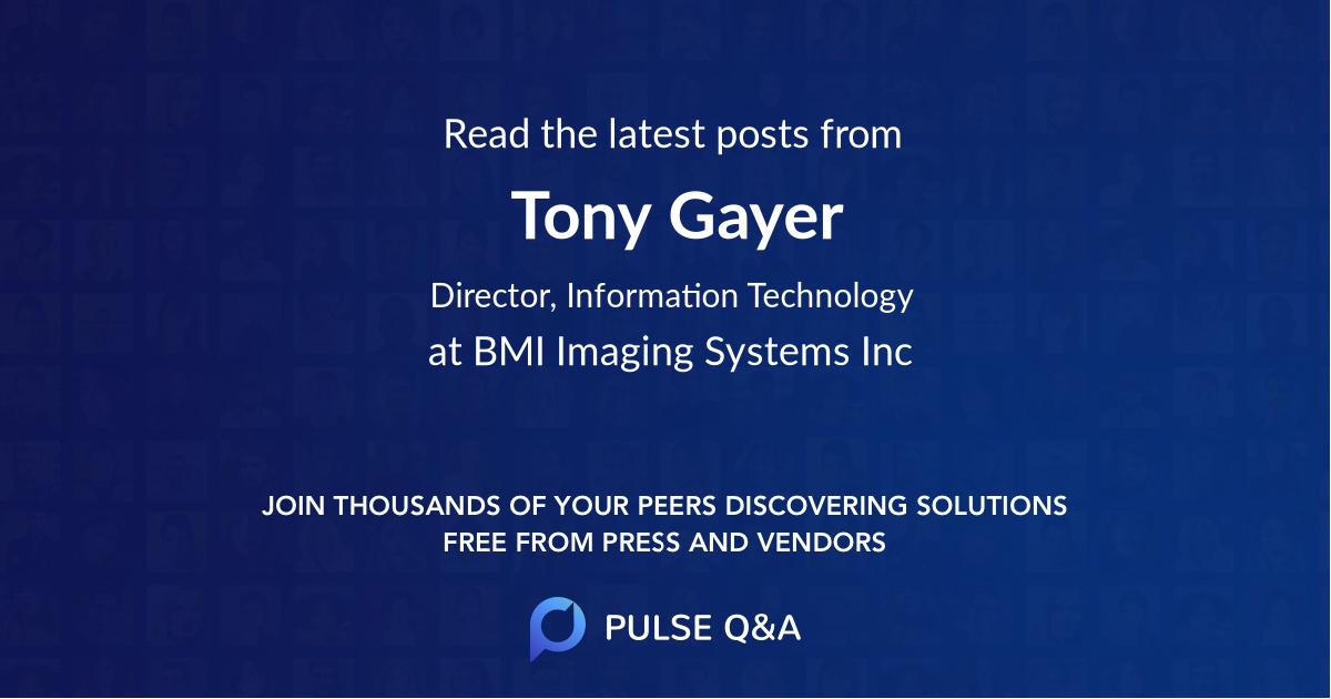 Tony Gayer