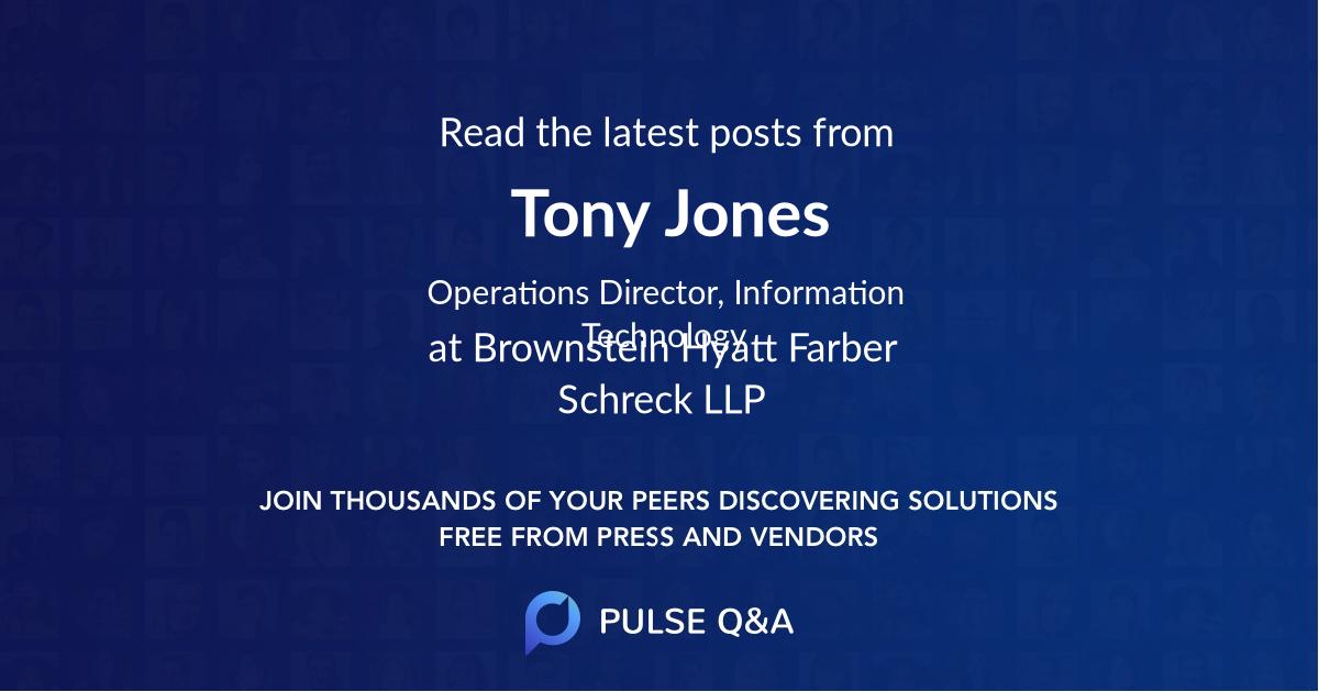 Tony Jones