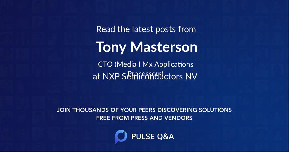 Tony Masterson