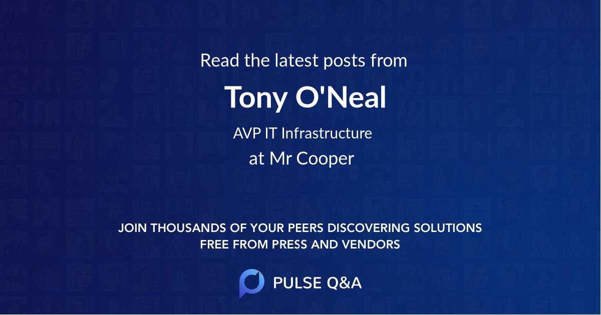 Tony O'Neal