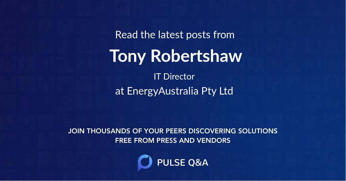 Tony Robertshaw