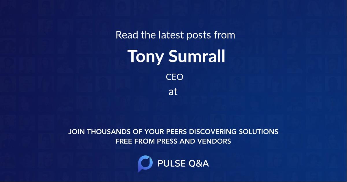 Tony Sumrall