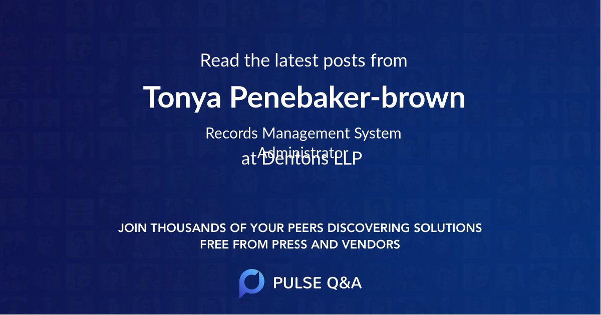 Tonya Penebaker-brown