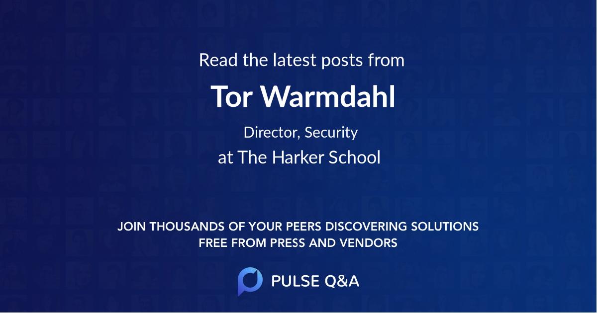 Tor Warmdahl