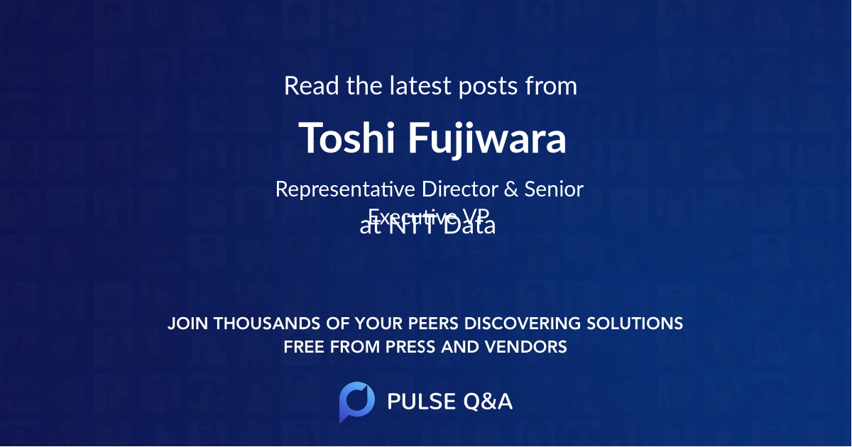 Toshi Fujiwara