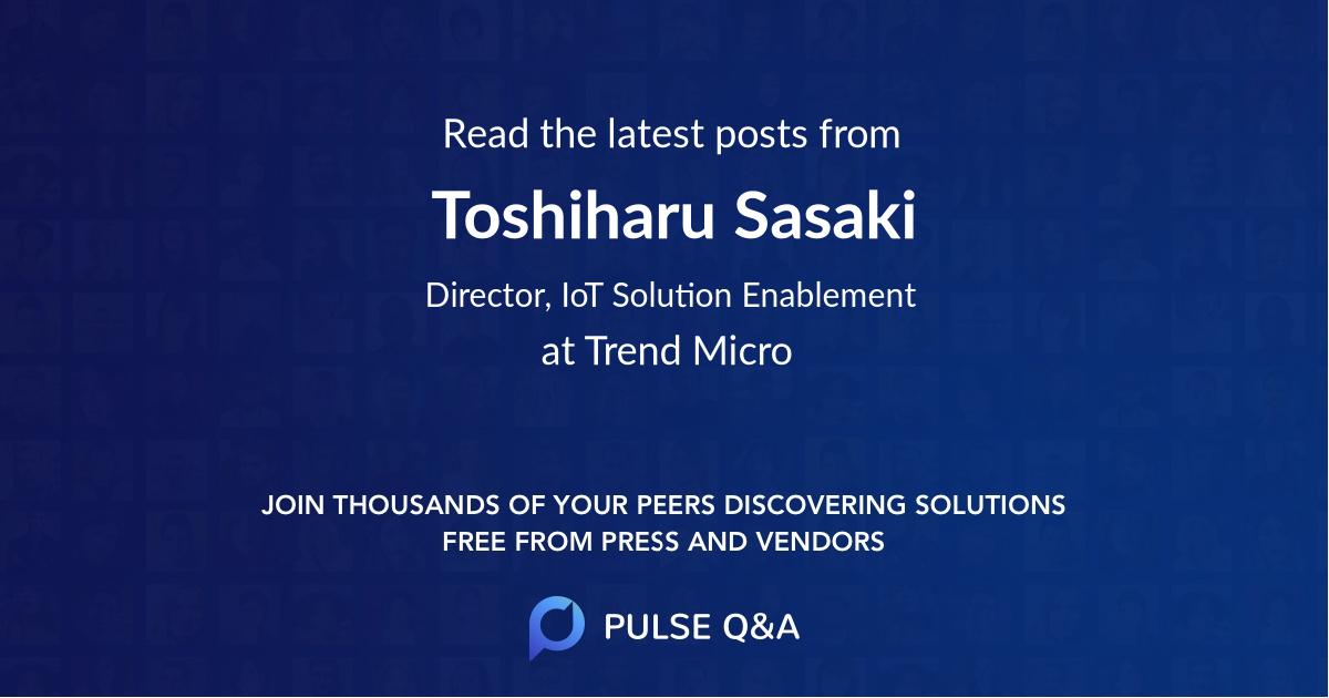Toshiharu Sasaki