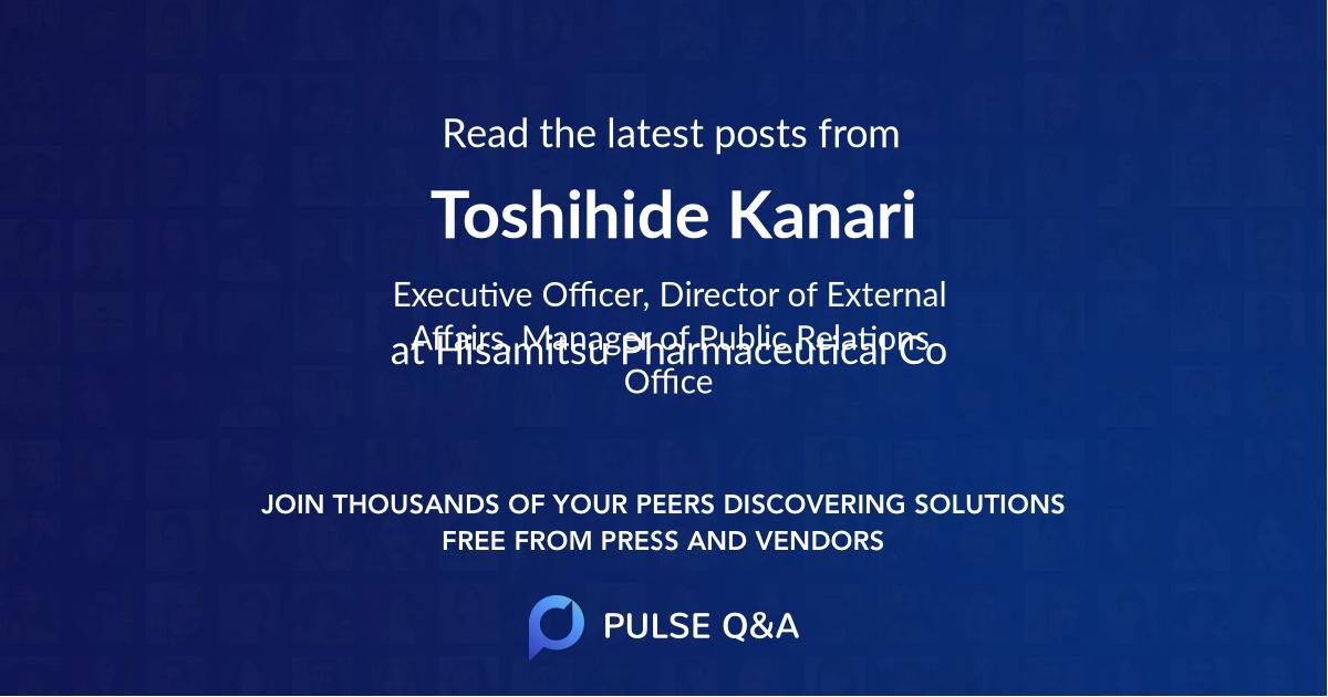 Toshihide Kanari