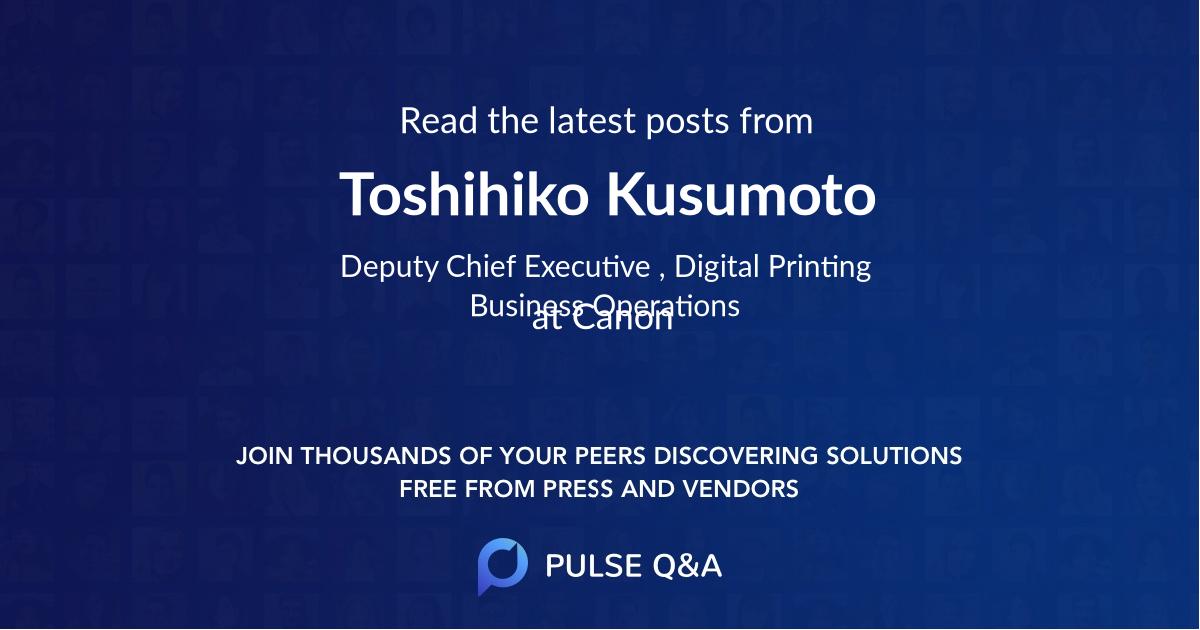 Toshihiko Kusumoto