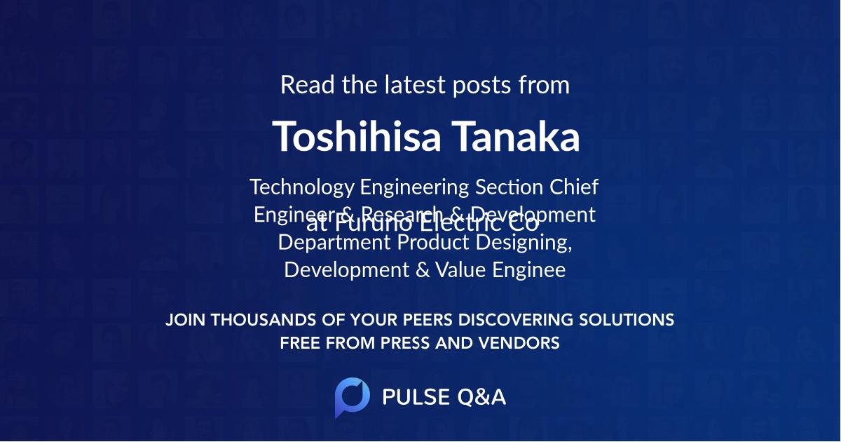 Toshihisa Tanaka