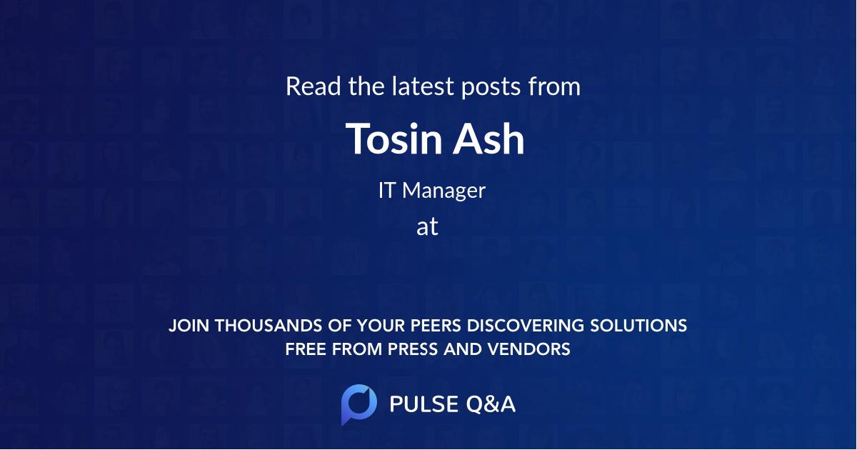 Tosin Ash