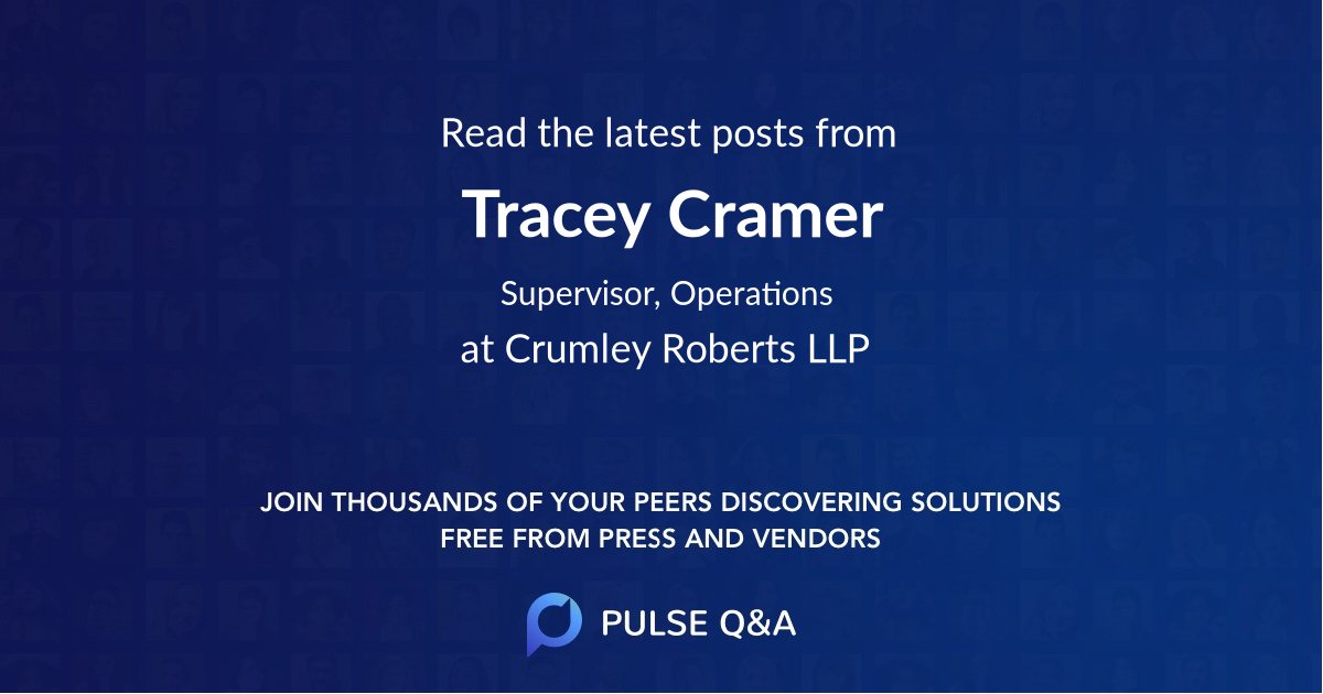 Tracey Cramer