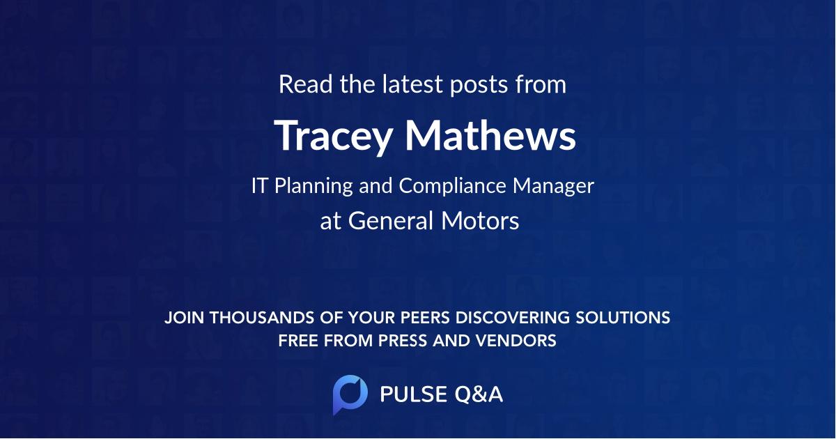 Tracey Mathews