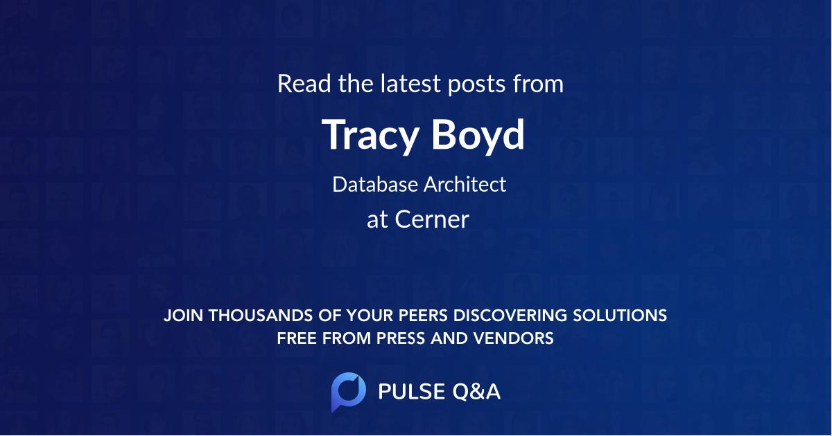 Tracy Boyd