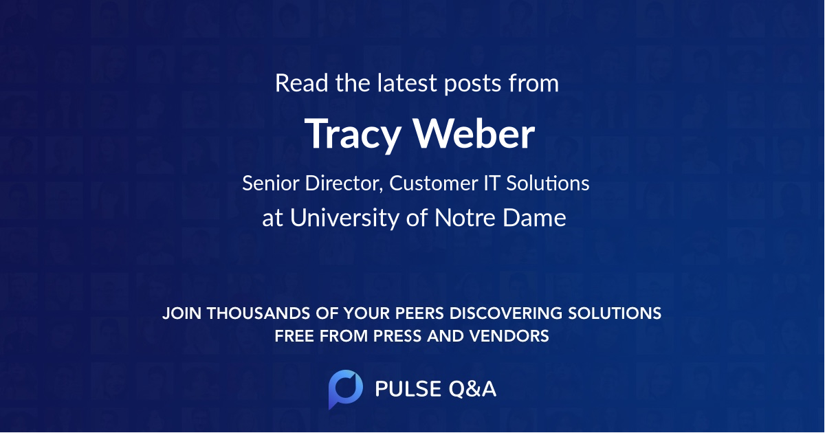 Tracy Weber