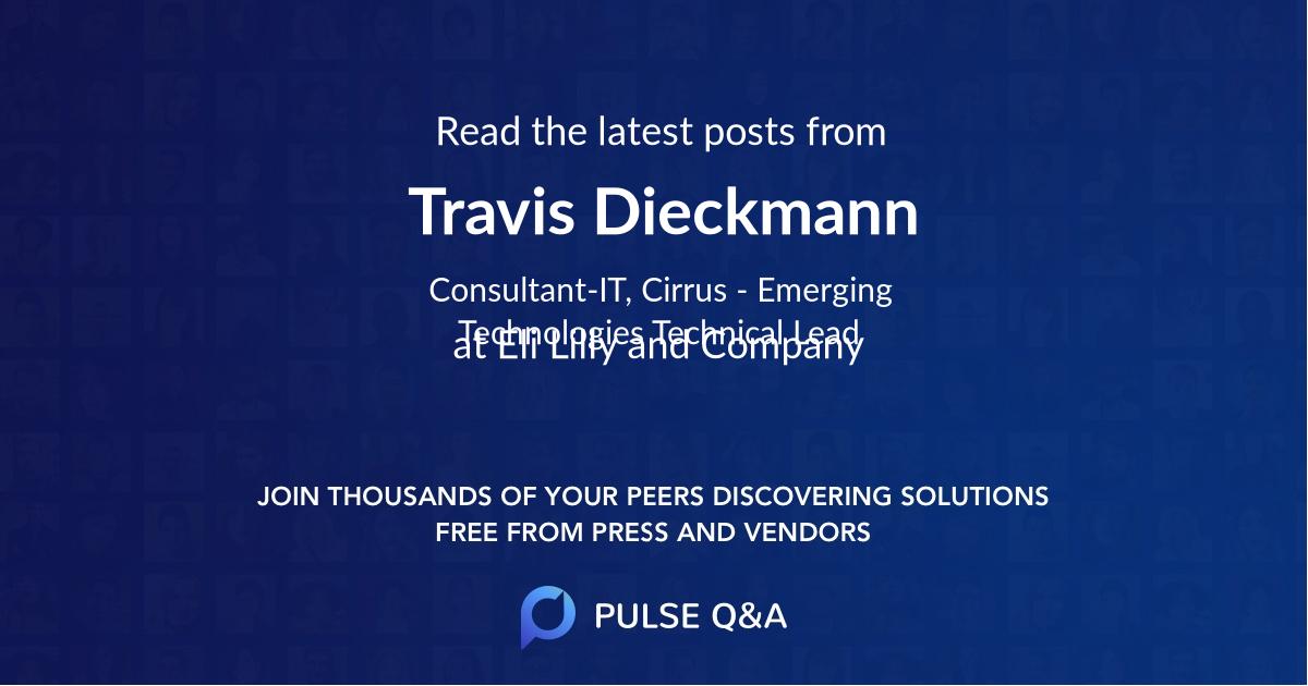 Travis Dieckmann