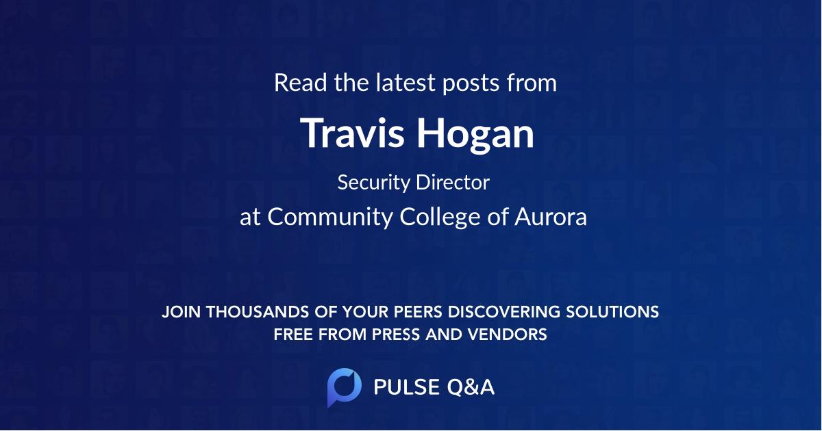 Travis Hogan