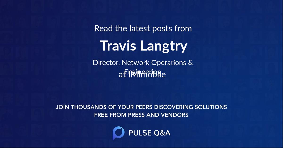 Travis Langtry