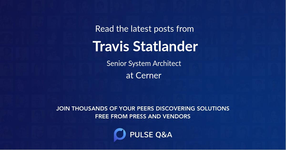 Travis Statlander