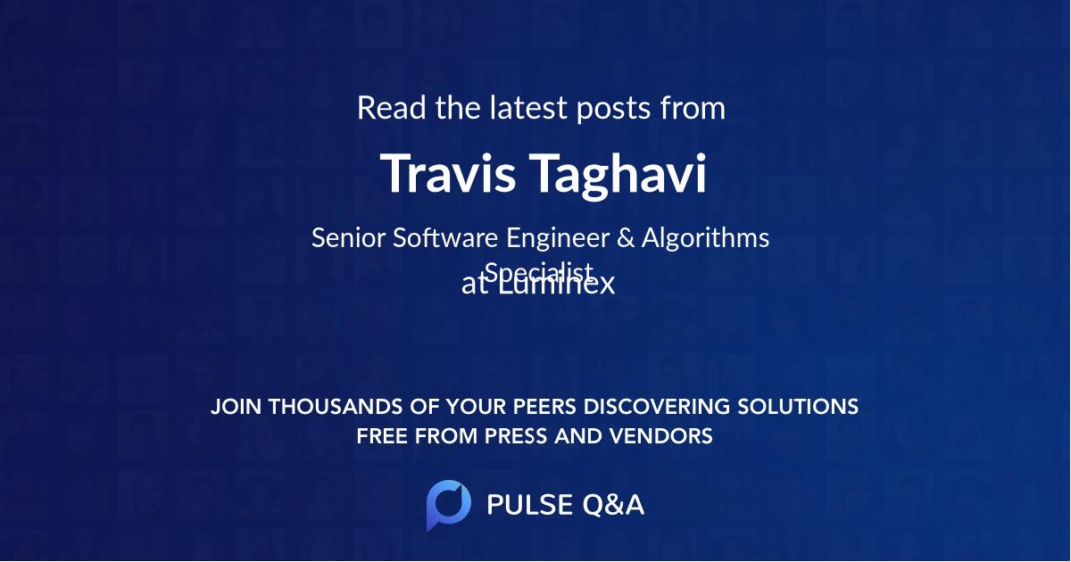 Travis Taghavi