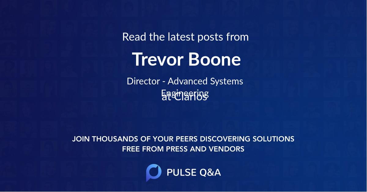 Trevor Boone